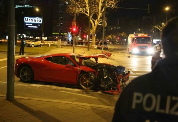 авария, столкновение, Ferrari, Smart