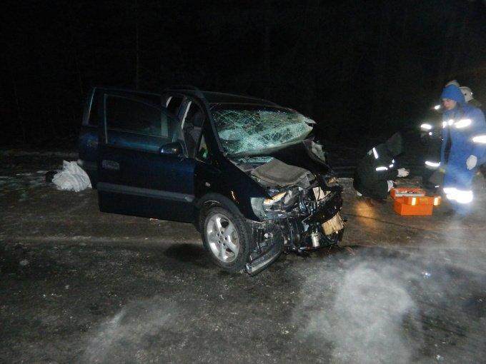 На трассе «Брянск - Новозыбков - Гомель» в лобовом столкновении пострадали трое белорусов