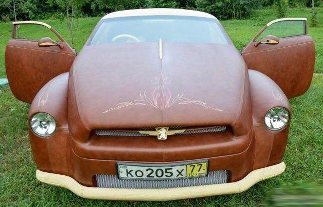 кожаный автомобиль