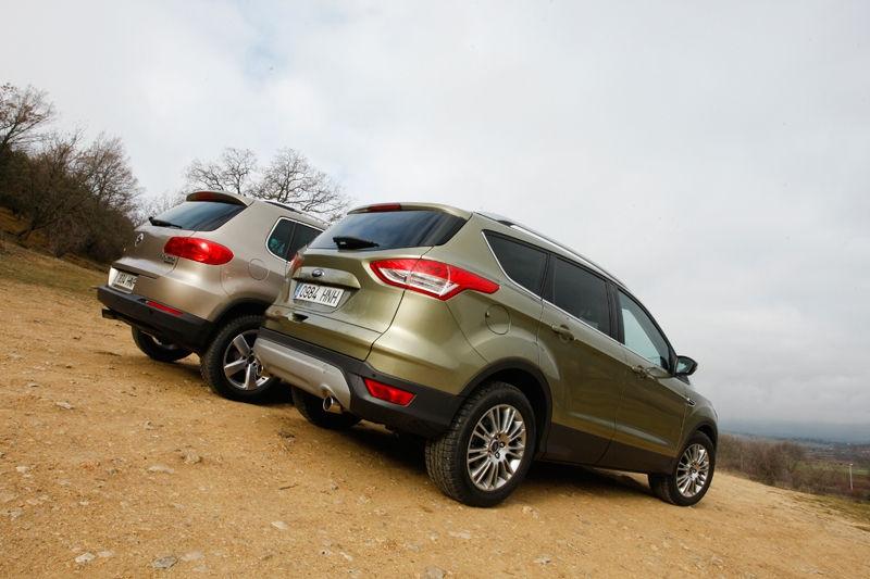 Сравнительный тест автомобилей Ford Kuga и VW Tiguan