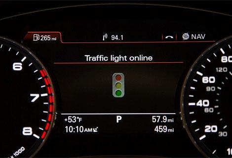За светофором будут следить сами автомобили
