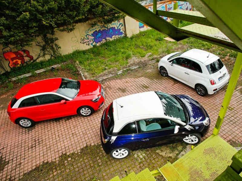 Сравнительный тест автомобилей Audi A1, Fiat 500 и Opel Adam