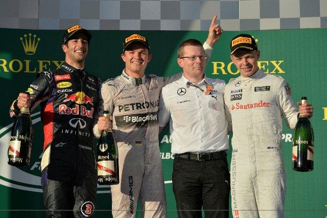 Подиум Гран-при Австралии-2014