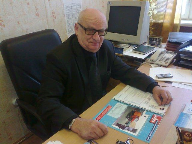 Один из разработчиков конструкции мусоровоза А.Климкович