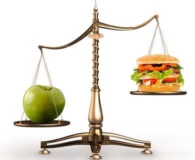 Весы, калории