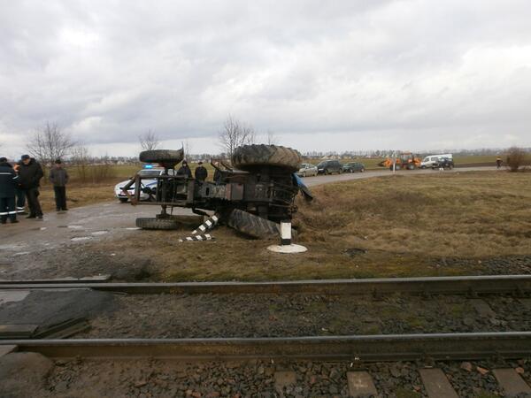 ДТП с участием трактора