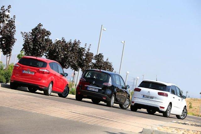 Сравнительный тест автомобилей Citroen C4 Picasso, Ford C-Max и Renault Scenic