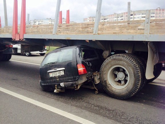 крупная авария с форд на МКАД