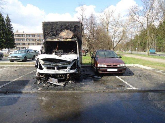возгорание фургона