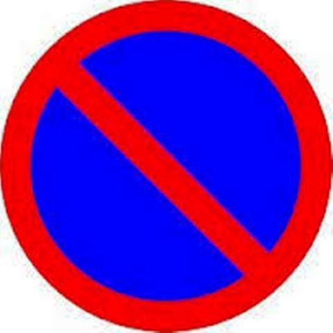 """знак """"Ограничение парковки"""""""