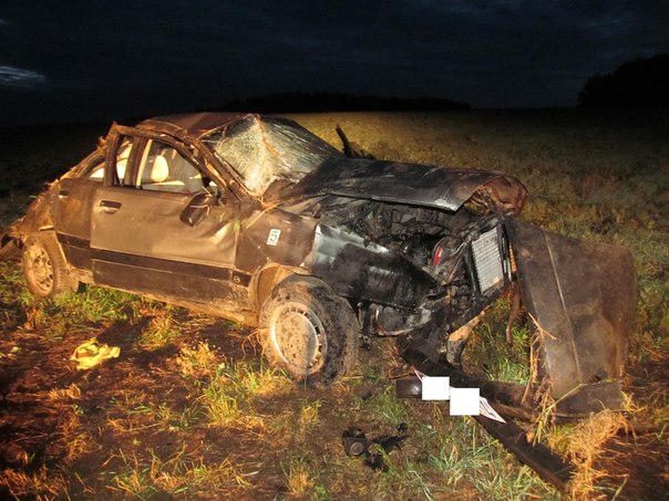 В Вороновском районе водитель на Ауди 80 после пьянки съехал в кювет