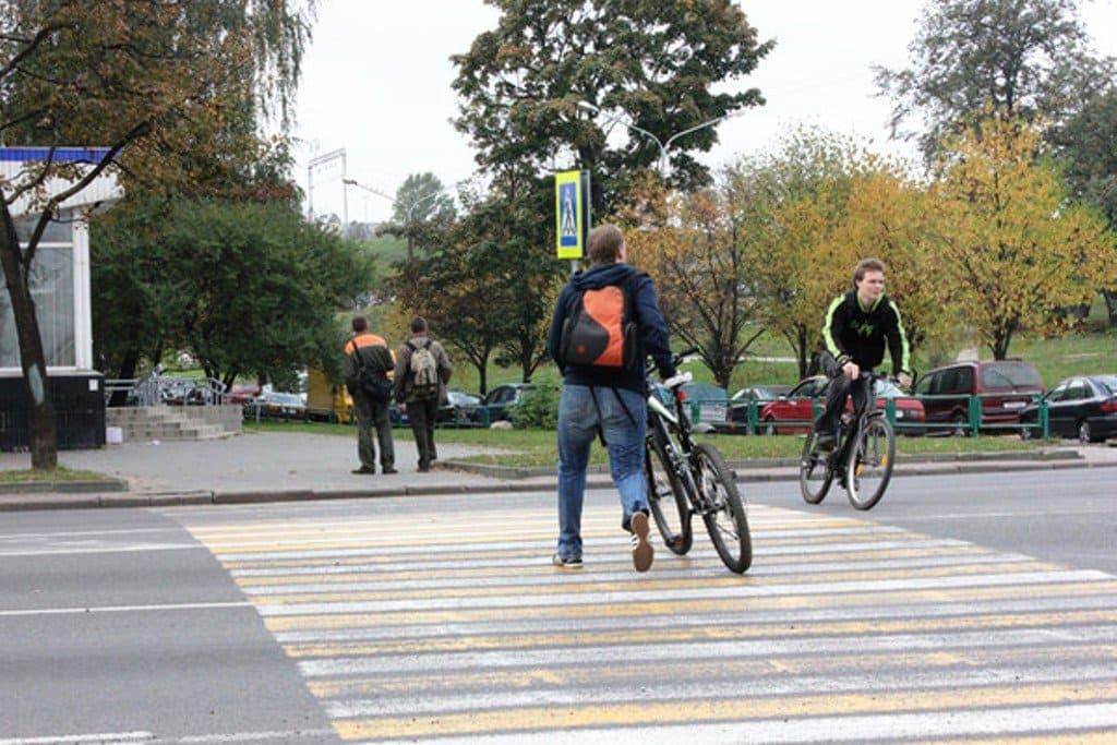 пешеход, велосипедист, авария,