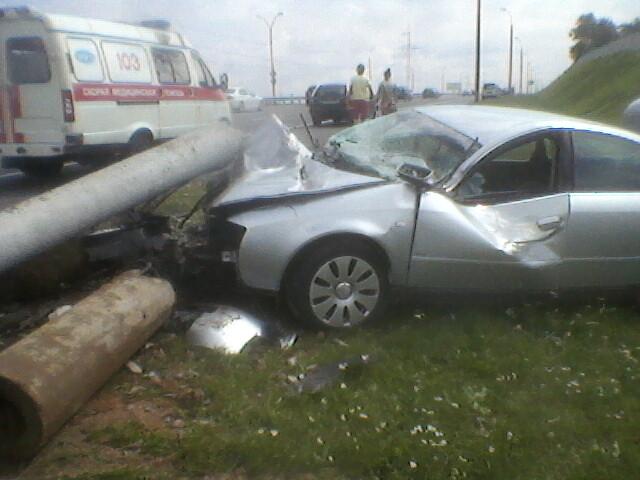 авария на МКАД на ауди А6