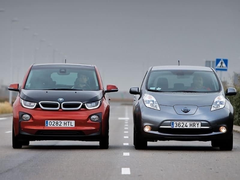 BMW I3 и Nissan leaf сравнительный тест