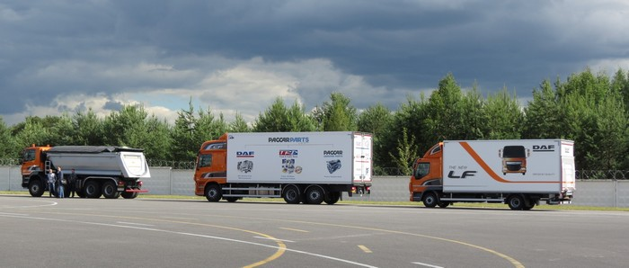 Презентация грузовиков DAf в Минске