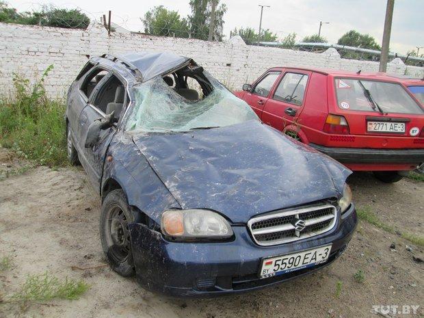 авария в Жлобинском районе, сузуки перевернулся