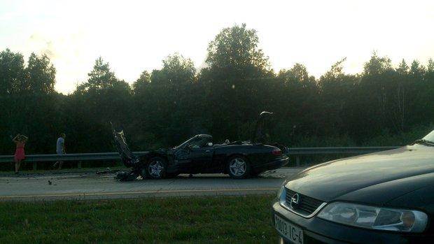 авария на М3 с авто Ягуар