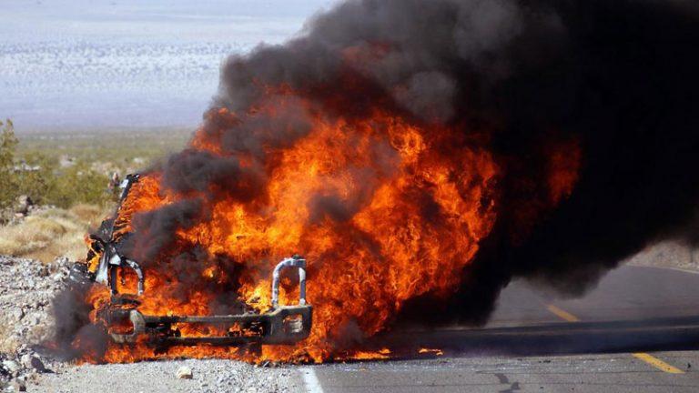 Форд, тест-драйв, возгорание