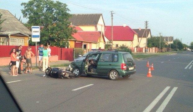 авария, Гродно, мотоциклист