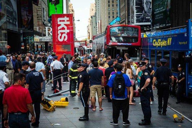 ДТП, нью-йорк, туристический, автобус, столкновение