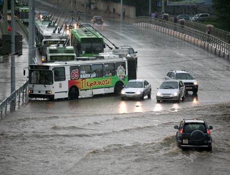 Минск затопило