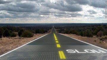 Дорога, вырабатывающая электроэнергию