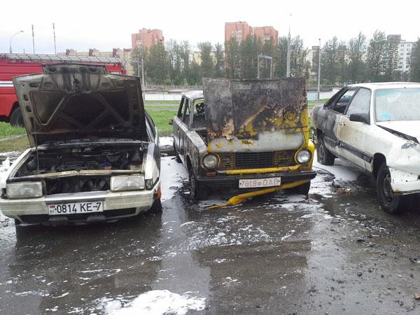 поджог автомобилей