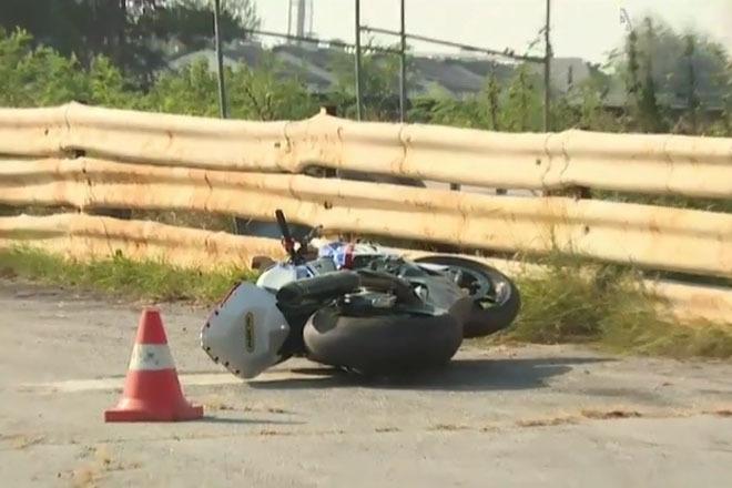Гусин разбился на мотоцикле