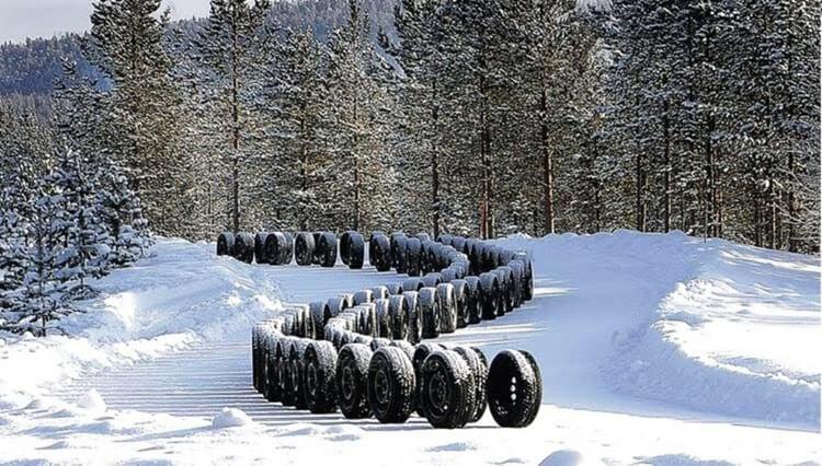 зима, шины, автомобиль, зимний