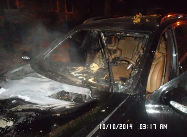 возгорание автомобиля