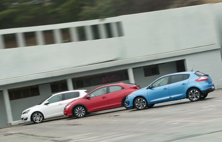 HONDA CIVIC, PEUGEOT 308 И RENAULT MEGANE