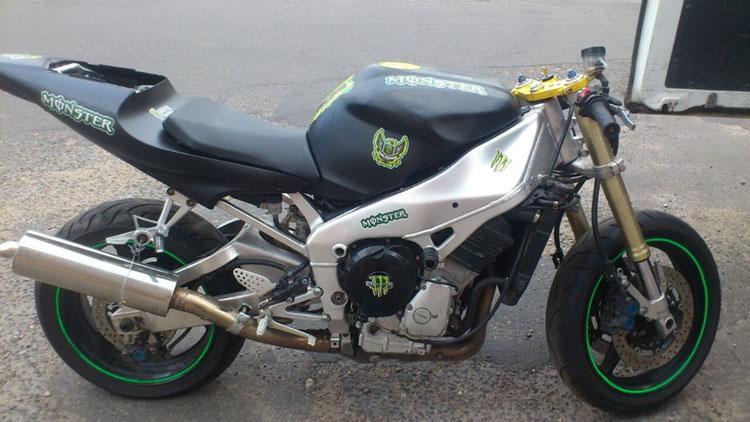 мотоцикл после кражи