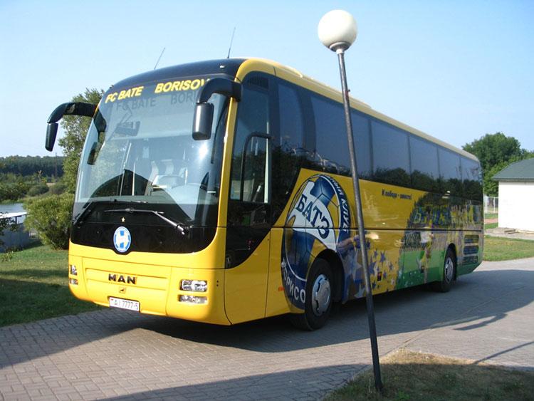 Автобус MAN команды БАТЭ