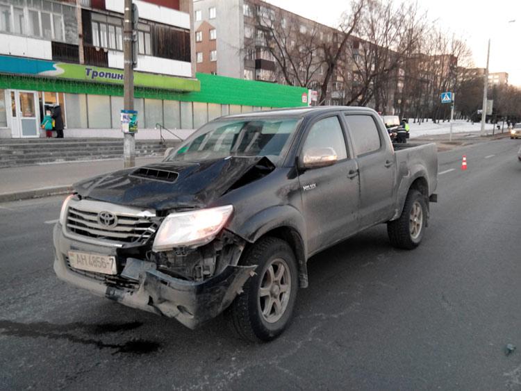 авария, пешеход, тойота