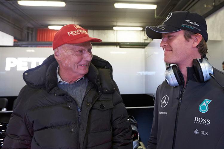 Нико Росберг, Ники Лауда, Формула 1