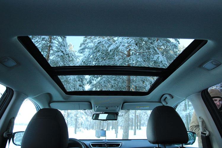 Панорамная крыша, Nissan X-Trail