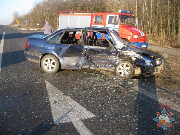 М1, лобовое столкновение, авария