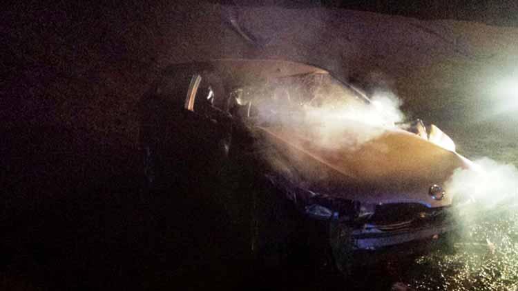 Водитель «Ниссан Альмера» пытался скрыться от ГАИ и не справился с управлением