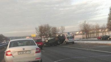 Сегодня утром на автодороге М3 сложилась аварийно-опасная ситуация