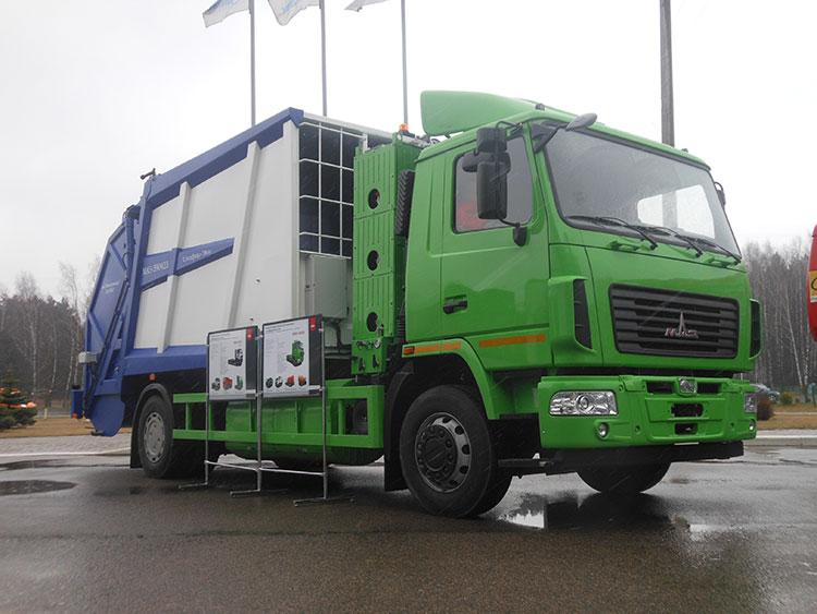 Новый мусоровоз МАЗ-590423