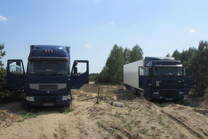 Белорусы решили объехать пункт пропуска, чтобы ввезти товар из Евросоюза, и застряли