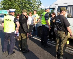 Конфликт на границе: польская полиция применила перечный газ