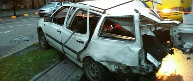 В Минске ночью ГАИ преследовала пьяного водителя