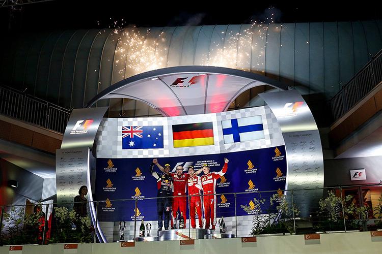 Подиум Гран-при Сингапура-2015
