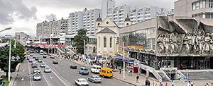 В Минске на Немиге ограничено движение