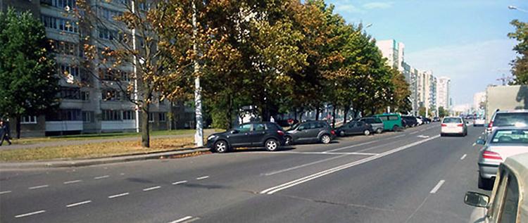 На улице Беды изменили дорожную разметку