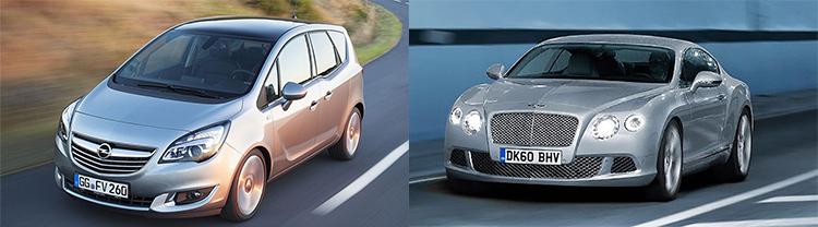Opel отзывает в России 9354 машин, а Bentley более 700