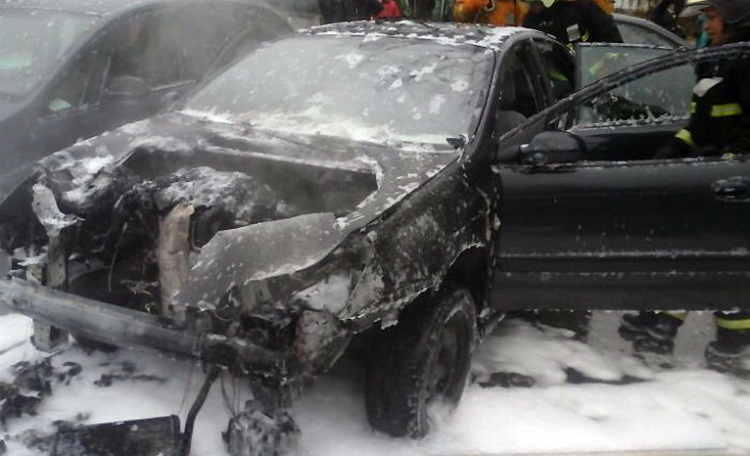 В Минске горел Citroen C5