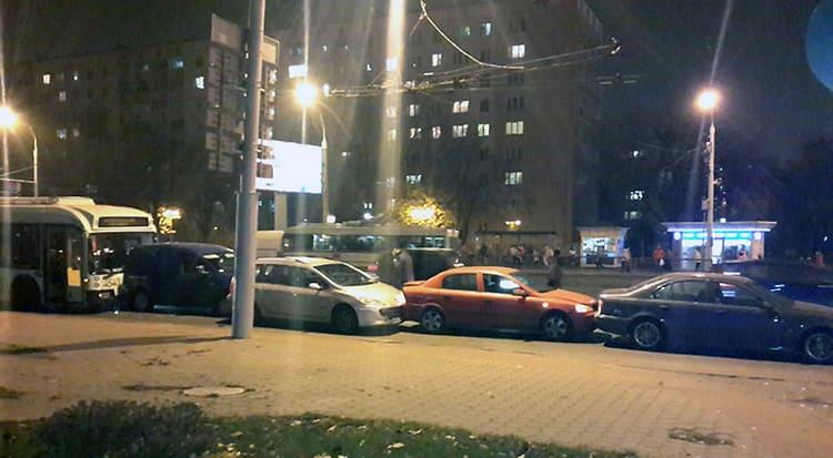 Массовое ДТП на проспекте Пушкина
