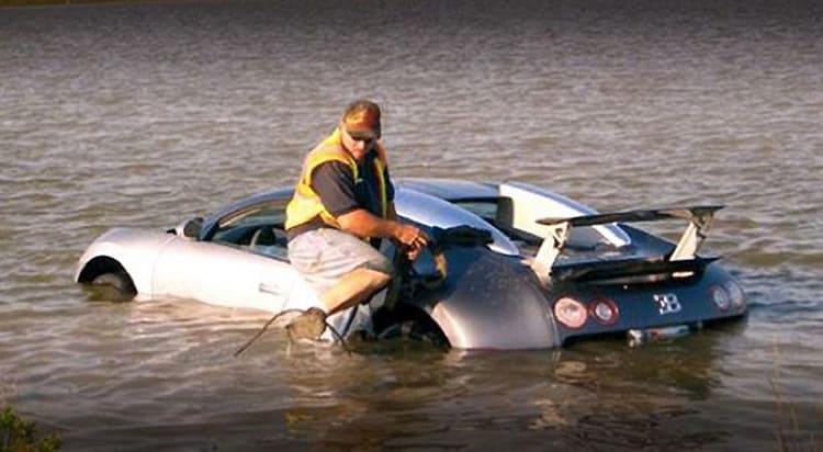 Утоплю-ка я Bugatti…